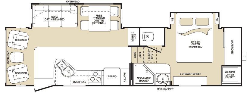 Floorplan - 2007 Keystone RV Montana 2955 RL