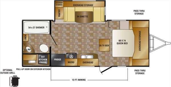 Floorplan - 2013 CrossRoads RV Sunset Trail Super Lite ST220RB