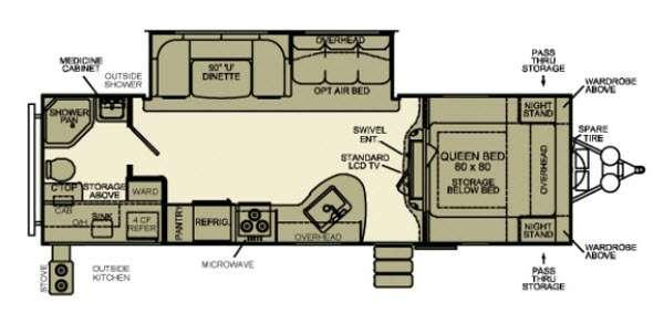 Floorplan - 2013 EverGreen RV Ever-Lite 29RBK