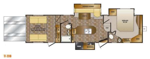 Floorplan - 2014 Elevation TF 3310 Toy Hauler Fifth Wheel