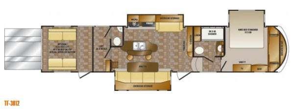 Floorplan - 2014 Elevation TF 3812 Toy Hauler Fifth Wheel