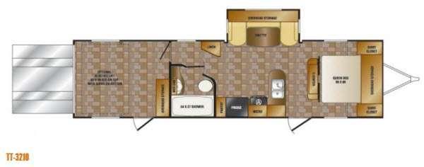 Floorplan - 2014 Elevation TT 3210 Toy Hauler Travel Trailer