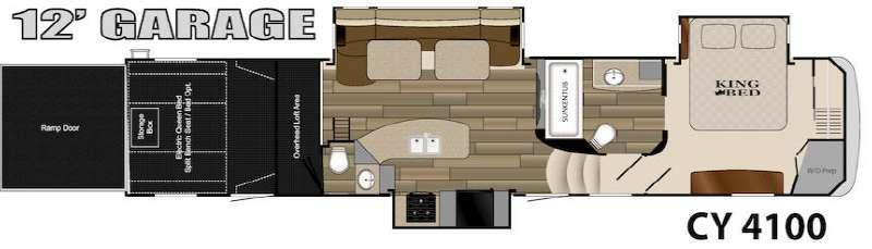 Floorplan - 2014 Heartland Cyclone 4100 King