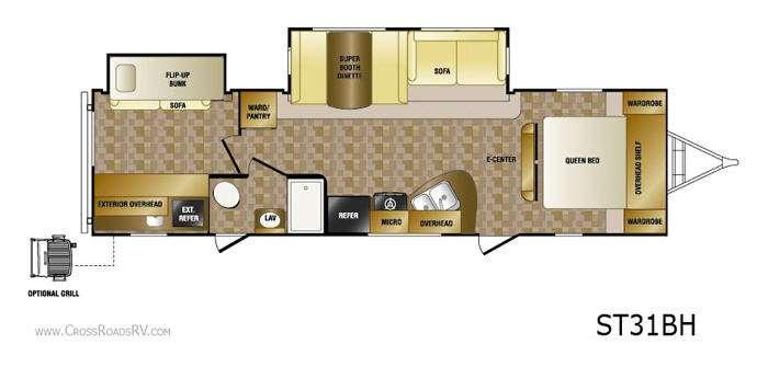 Floorplan - 2013 CrossRoads RV Sunset Trail ST31BH