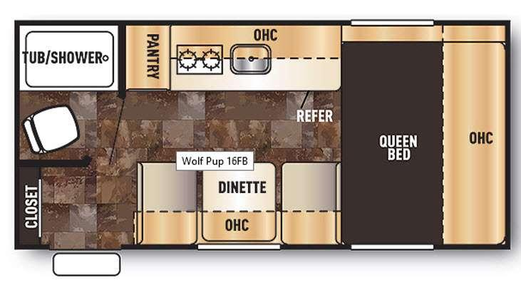 Floorplan - 2014 Forest River RV Cherokee Wolf Pup 16FB
