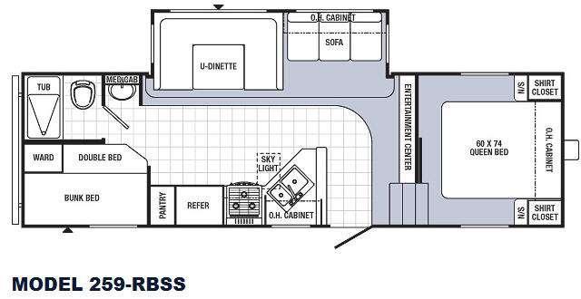 Floorplan - 2014 Palomino Puma 259-RBSS