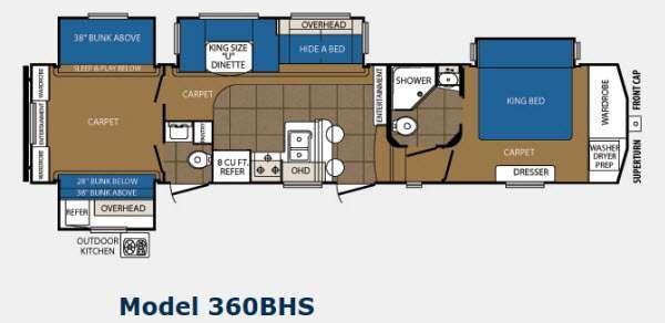 Floorplan - 2014 Prime Time Manufacturing Crusader 360BHS