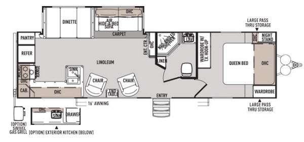Floorplan - 2014 Forest River RV Wildwood Heritage Glen 282RK