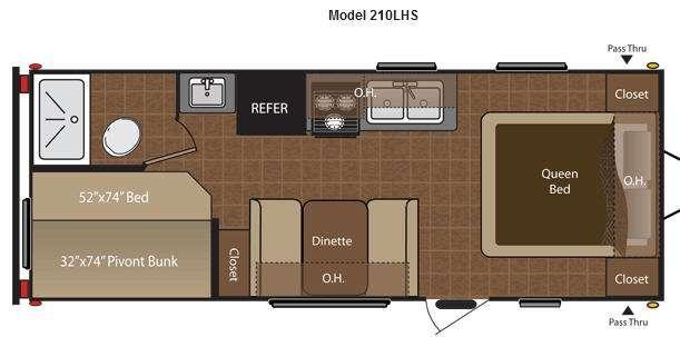 Floorplan - 2014 Keystone RV Hideout 210LHS