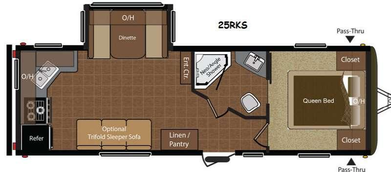 Floorplan - 2014 Keystone RV Hideout 25RKS