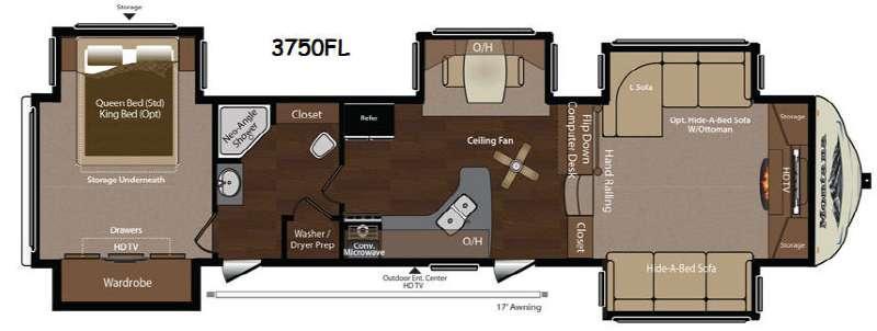 Floorplan - 2014 Keystone RV Montana 3750 FL