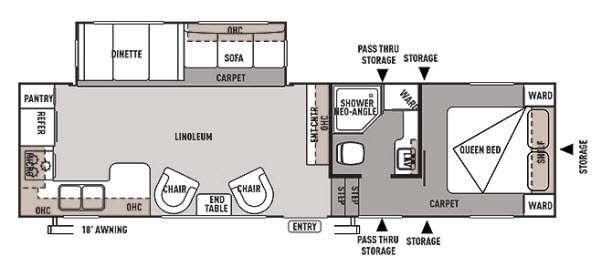 Floorplan - 2014 Forest River RV Wildwood 29RKSS