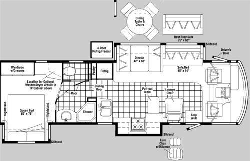 Floorplan - 2007 Winnebago Adventurer 35A