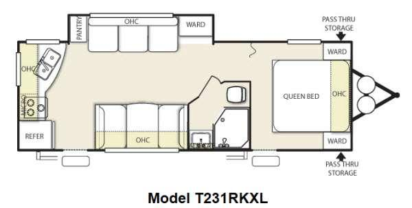 Floorplan - 2014 Forest River RV Wildwood X-Lite 231RKXL