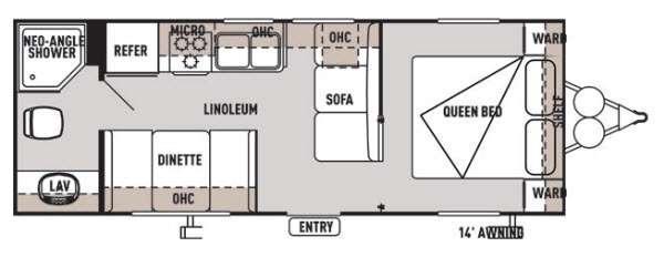 Floorplan - 2014 Forest River RV Wildwood X-Lite 241QBXL