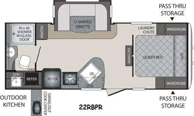 Floorplan - 2014 Keystone RV Premier Ultra Lite 22RBPR