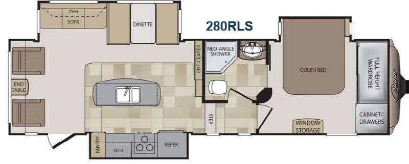 Floorplan - 2014 Keystone RV Cougar 280RLS