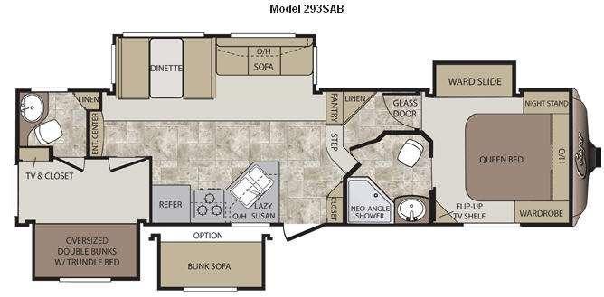 Floorplan - 2014 Keystone RV Cougar 293SAB