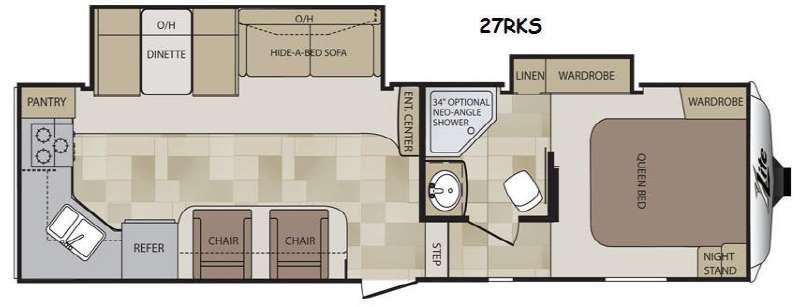 Floorplan - 2014 Keystone RV Cougar X-Lite 27RKS