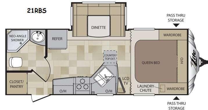 Floorplan - 2014 Keystone RV Cougar X-Lite 21RBS