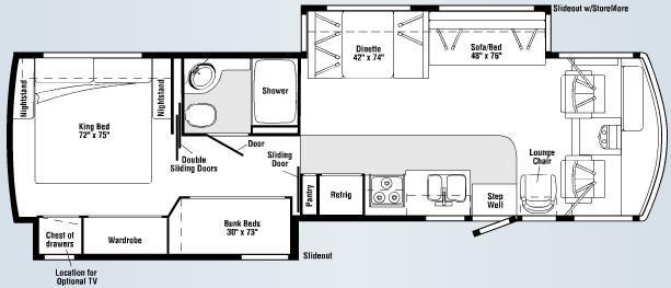 Floorplan - 2007 Winnebago Sightseer 35J
