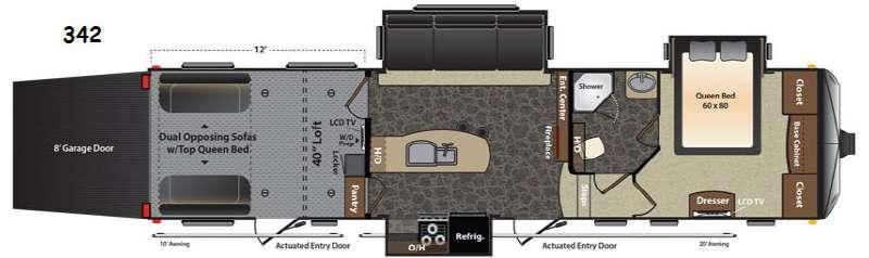 Floorplan - 2014 Keystone RV Fuzion 342