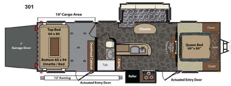 Floorplan - 2014 Keystone RV Fuzion 301