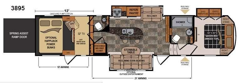 Floorplan - 2014 Dutchmen RV Voltage V3895