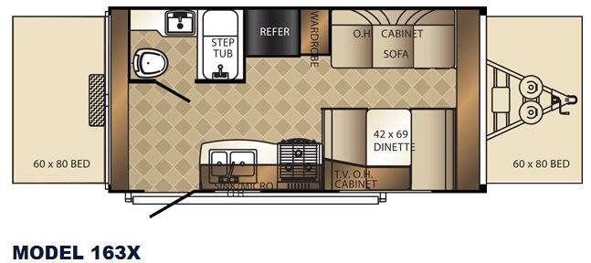 Floorplan - 2014 Palomino Solaire 163 X