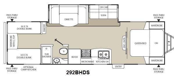 Floorplan - 2014 Coachmen RV Freedom Express 292BHDS