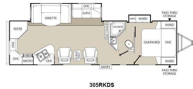 Floorplan - 2014 Coachmen RV Freedom Express 305RKDS