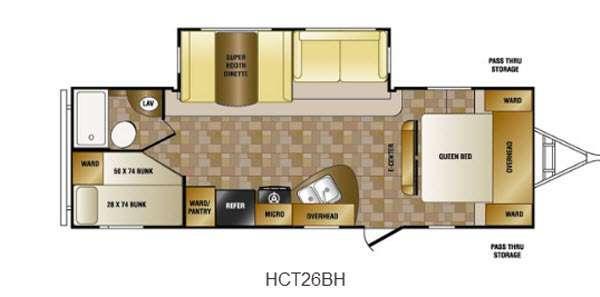 Floorplan - 2014 Hill Country HCT26BH Travel Trailer
