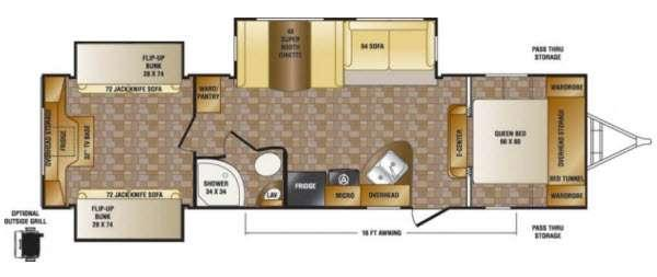 Floorplan - 2014 Hill Country HCT32FR Travel Trailer