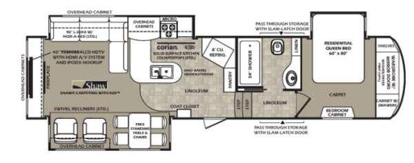 Floorplan - 2014 Forest River RV Wildcat 327CK