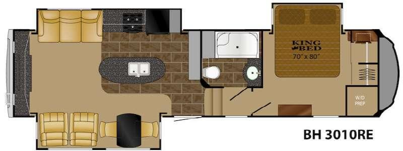 Floorplan - 2014 Heartland Bighorn 3010RE