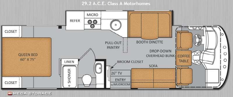 Floorplan - 2014 Thor Motor Coach ACE 29 2