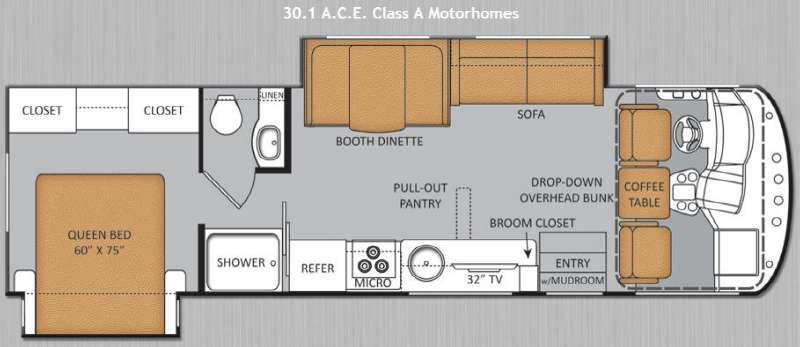 Floorplan - 2014 Thor Motor Coach ACE 30 1