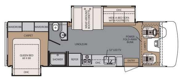 Floorplan - 2014 Forest River RV FR3 30DS