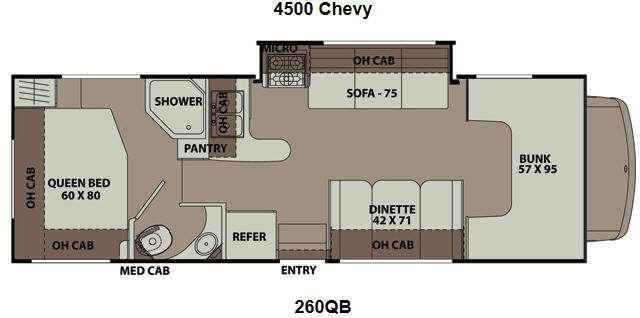 Floorplan - 2014 Coachmen RV Leprechaun 260QB Chevy 4500