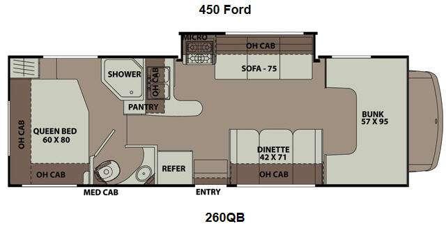 Floorplan - 2014 Coachmen RV Leprechaun 260QB Ford 450
