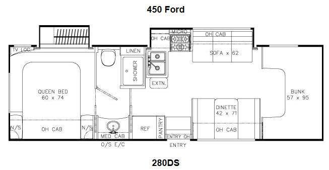 Floorplan - 2014 Coachmen RV Leprechaun 280DS Chevy 4500