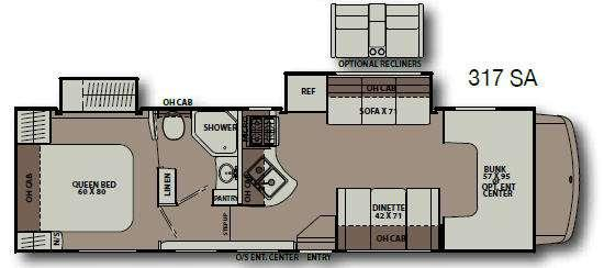Floorplan - 2014 Coachmen RV Leprechaun 317SA Ford 450