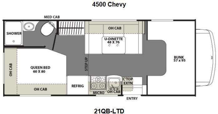 Floorplan - 2014 Coachmen RV Freelander 21QB-LTD Chevy 4500