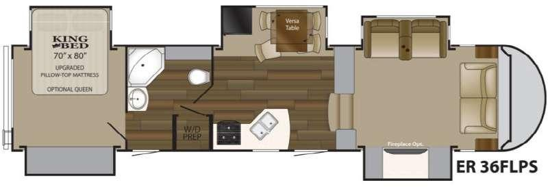 Floorplan - 2014 ElkRidge 36FLPS Fifth Wheel
