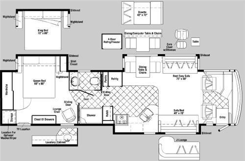 Floorplan - 2007 Itasca Ellipse 40KD