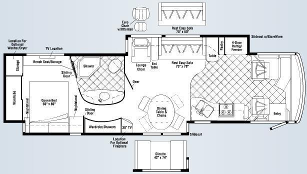 Floorplan - 2007 Itasca Ellipse 40TD