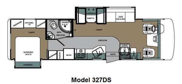 Floorplan - 2014 Forest River RV Georgetown 327DSF