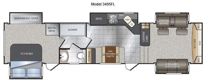 Floorplan - 2014 Keystone RV Alpine 3495FL