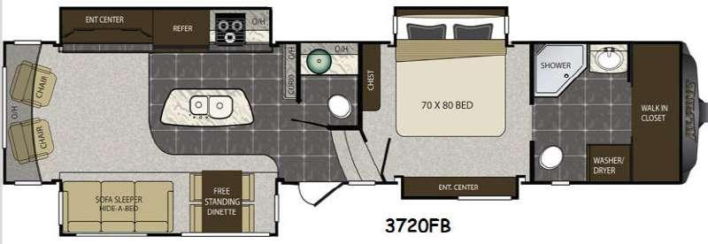 Floorplan - 2014 Keystone RV Alpine 3720FB