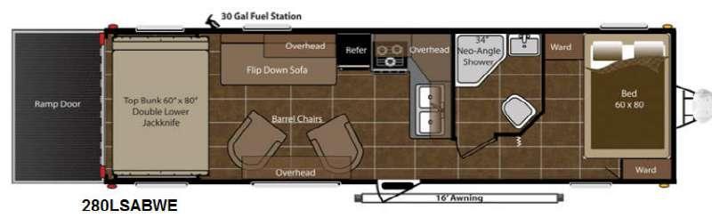Floorplan - 2014 Keystone RV Energy 280LSABWE